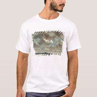 T-shirt Paysage étendu avec les nuages gris, c.1821 (huile