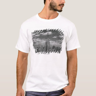 T-shirt Paysage noir et blanc d'horizon de New York City