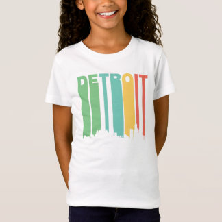 T-Shirt Paysage urbain vintage de Detroit