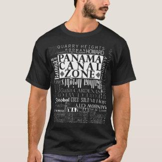 T-shirt PCZ - Emplacements de zone de canal de Panama Dans