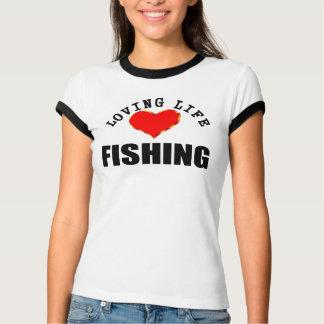 T-shirt Pêche affectueuse de la vie