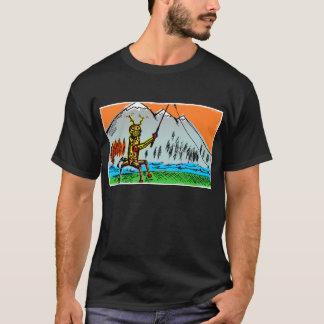 T-shirt Pêche de Tenkara de robot en automne - avant