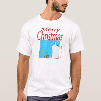 T-shirt Pêche d'ours blanc du Joyeux Noël 366 pour l'elfe