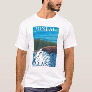 T-shirt Pêche d'ours en rivière - Juneau, Alaska