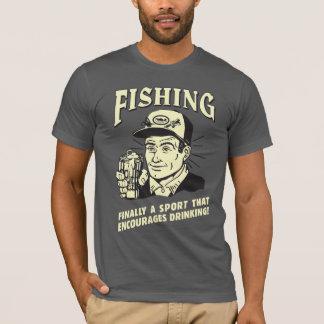 T-shirt Pêche : Le sport encourage le boire