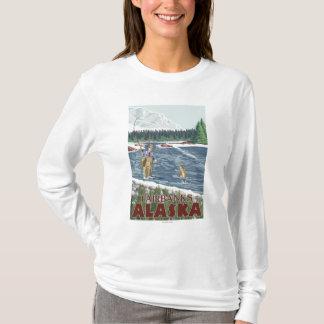 T-shirt Pêcheur de mouche - Fairbanks, Alaska