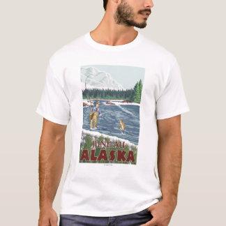 T-shirt Pêcheur de mouche - Juneau, Alaska