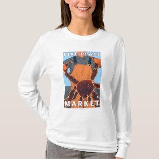 T-shirt Pêcheur limule - marché de place de Pike, Seattle