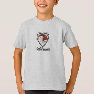 T-shirt Pêcheur, pêche à la ligne. Poisson. Logo Badge