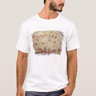 T-shirt Pêcheurs dans voler de bateau et d'oiseaux