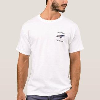 T-shirt Pêchez plus de travail de poisson-chat moins
