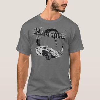 T-shirt Pédale au gris modifié par saleté en métal