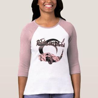 T-shirt Pédale au rose modifié par saleté en métal
