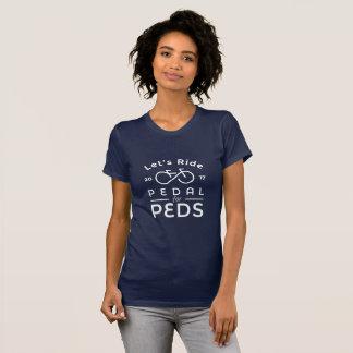 T-shirt Pédale du fonctionnaire 2017 de femmes et de