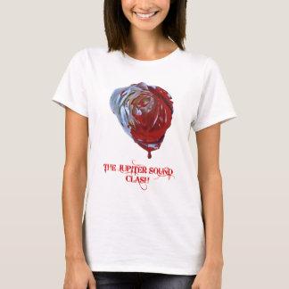 T-shirt Peignez les femmes de rouge de roses