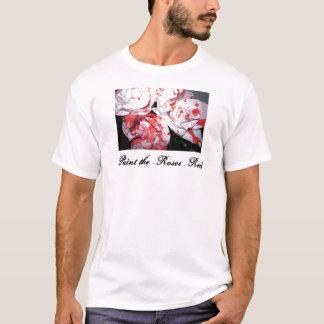T-shirt Peignez les roses rouges
