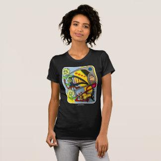 """T-shirt Peinture """"d'abeille abstraite de jardin de mod de"""
