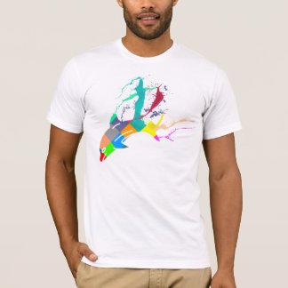 T-shirt Peinture de dauphin