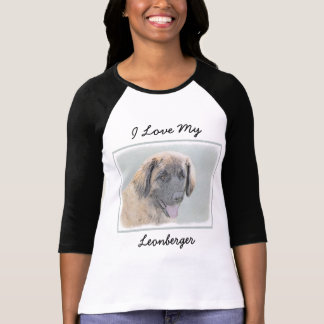 T-shirt Peinture de Leonberger - art original mignon de