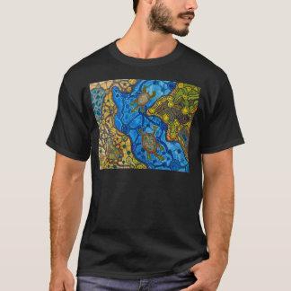 T-shirt Peinture indigène de tortues