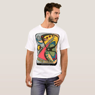 T-shirt Peinture parlante abstraite d'homme de la moitié