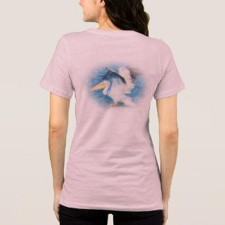 T-shirt pélican 17 d'aquarelle