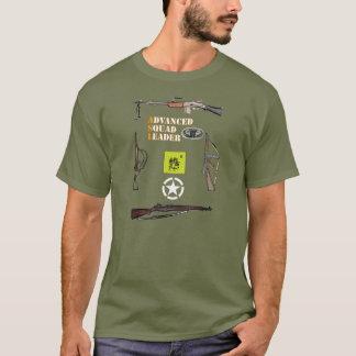 T-shirt Peloton aéroporté d'ASL avec la frontière et le