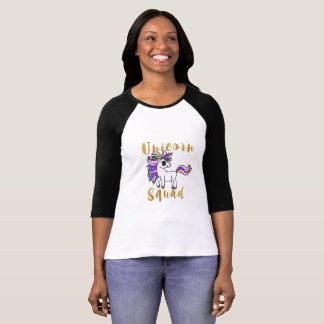 T-shirt Peloton de licorne, poney coloré
