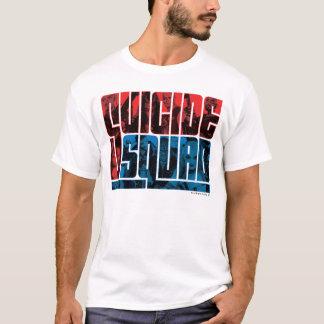 T-shirt Peloton de suicide logo rouge et bleu de |