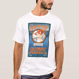 T-shirt Péninsule olympique, WashingtonHop le ferry