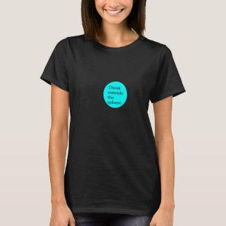 T-shirt Pensez en dehors de la sphère (les femmes)