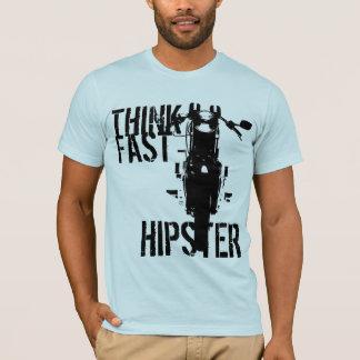 T-shirt Pensez le hippie rapide