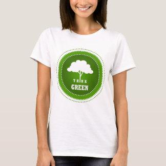 """T-shirt Pensez le vert """"T """""""