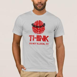 T-shirt Pensez… son non illégal pourtant la chemise
