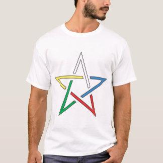 T-shirt Pentagone étoilé de coupe de couleur