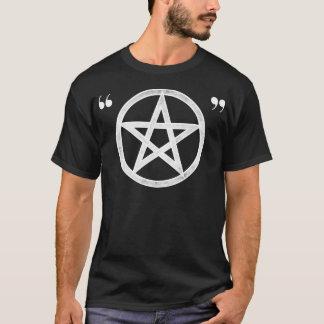 T-shirt Pentagramme ironique païen de hippie (blanc sur