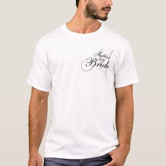 T-shirt Père de monogramme de la jeune mariée épousant