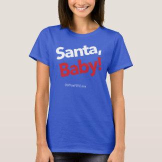 """T-shirt """"Père Noël, bébé !"""" la pièce en t de base des"""