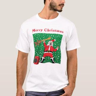 T-shirt Père Noël de métaux lourds (police 1 de 2)
