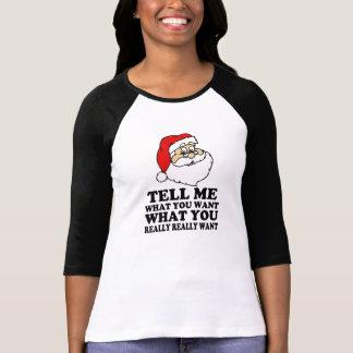 T-shirt Père Noël drôle m'indiquent ce que vous voulez