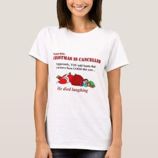 T-shirt Père Noël est mort en riant