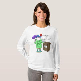 T-shirt Père Noël et sa vitesse de pluie