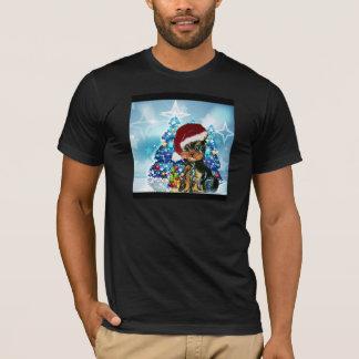 T-shirt Père Noël Yorkie Poo
