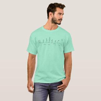 T-shirt Perfection d'obstacle d'homme de bâton de chemise