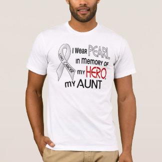 T-shirt Perle dans la mémoire de mon cancer de tante