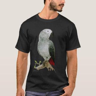 T-shirt Perroquet de gris africain (conception foncée)