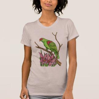T-shirt Perroquet et orchidées