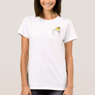 T-shirt Perroquet jaune de poche