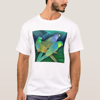 T-shirt Perroquets verts