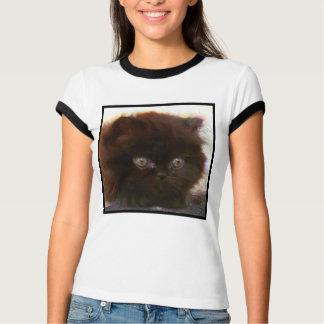 T-shirt persan noir de chaton